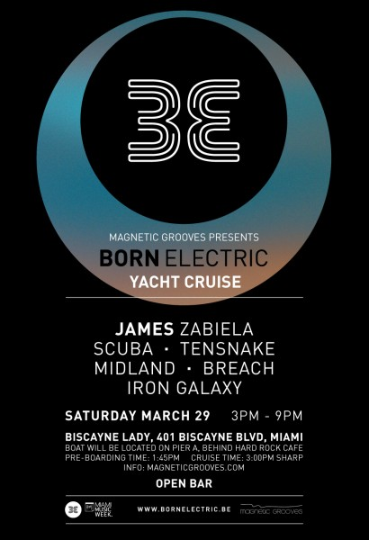 Born Electric Cruise | w/ James Zabiela, Scuba and special guests | Sat Mar 29