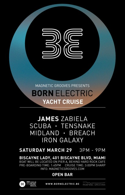 Born Electric Cruise | w/ James Zabiela, Scuba and special guests